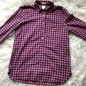 J.Crew Factory: Plaid Gauze Shirt In Boy Fit